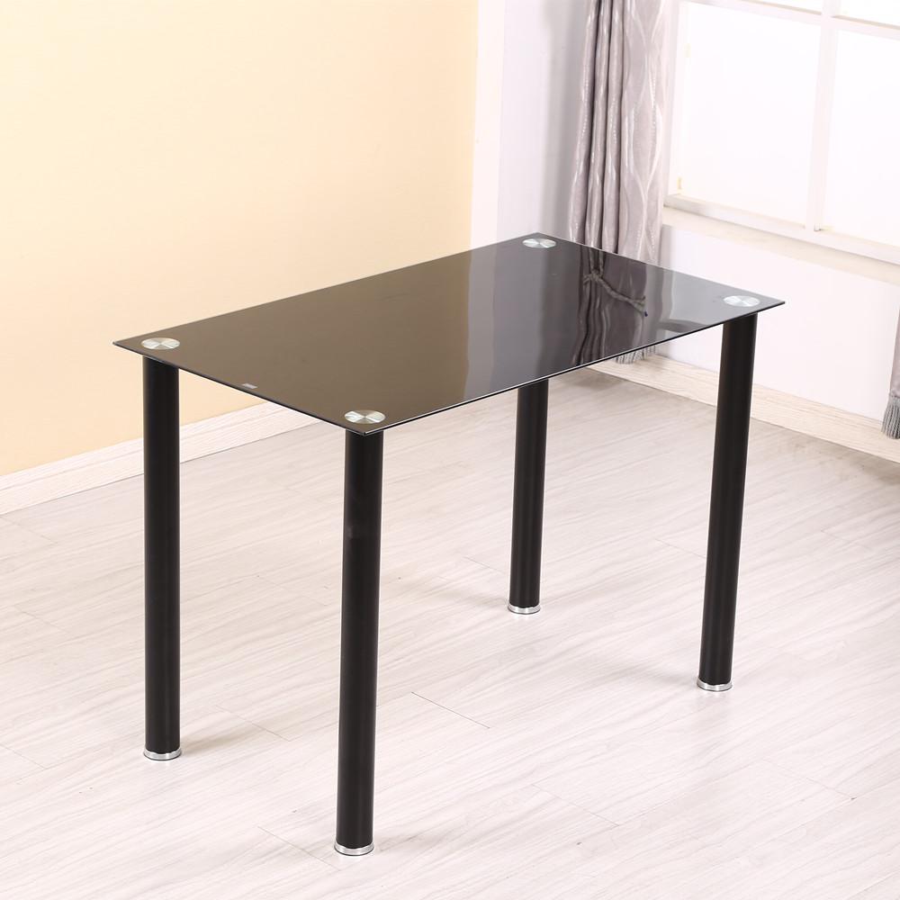 04款钢化玻璃桌配四椅子